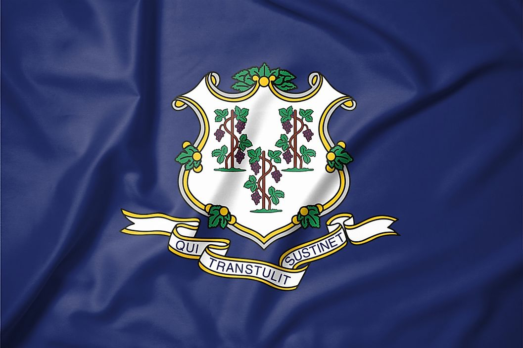The state flag of Connecticut.