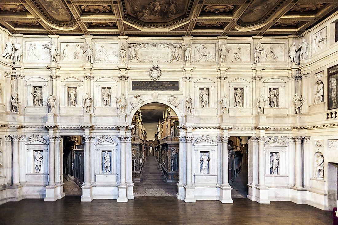 The Teatro Olimpico hosted its first performance in 1585. Editorial credit: travelview / Shutterstock.com