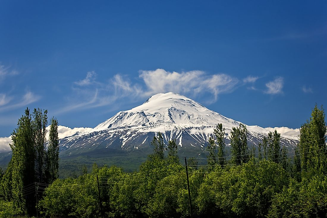 Mount Ararat is the highest point in Turkey.