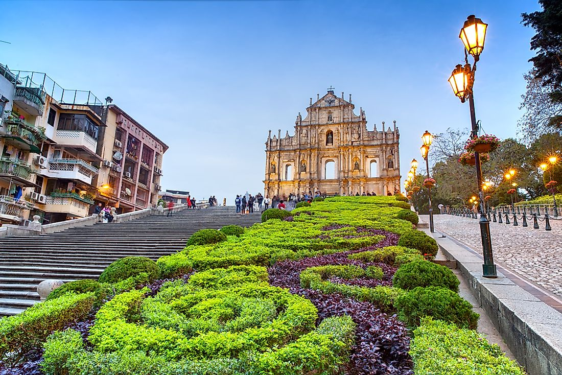 The ruins of St. Paul, Macao.