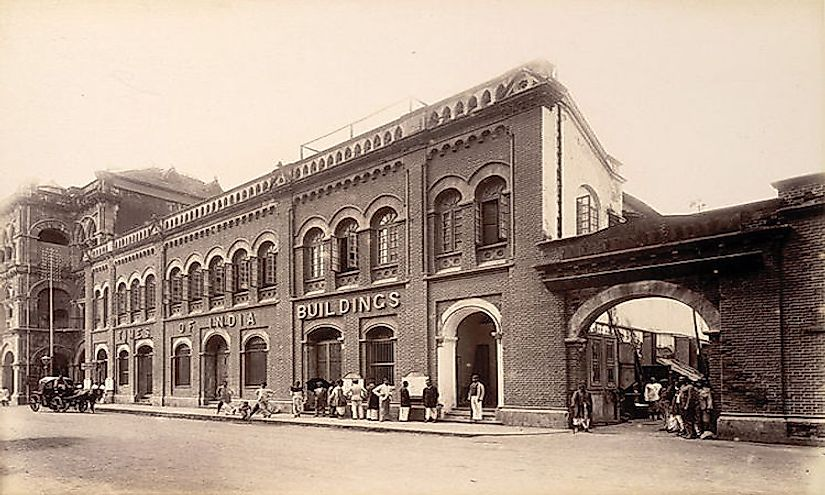 The Times Of India office building: the newspaper photographed in 1898.