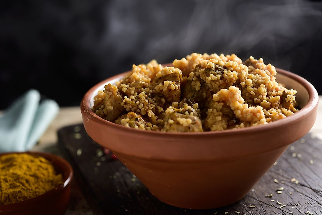 Couscous is an important staple in the Algerian diet.