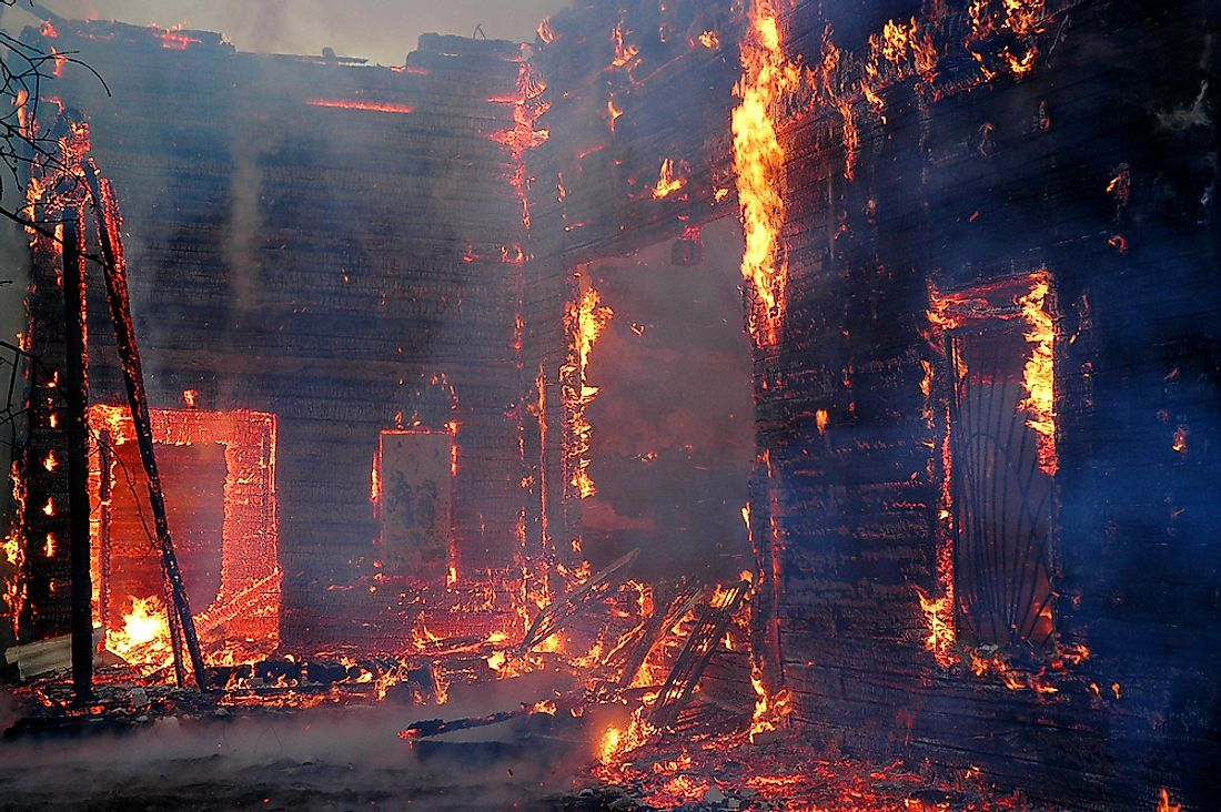Large building fires can have disastrous results.