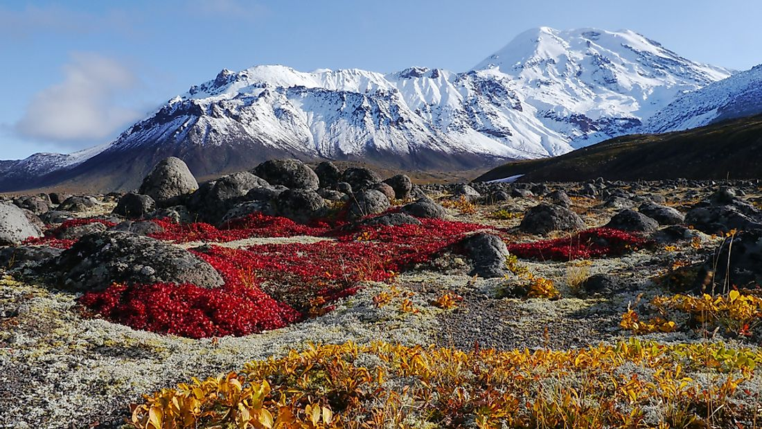 The Volcanoes Of Kamchatka, a unique landform in Russia.