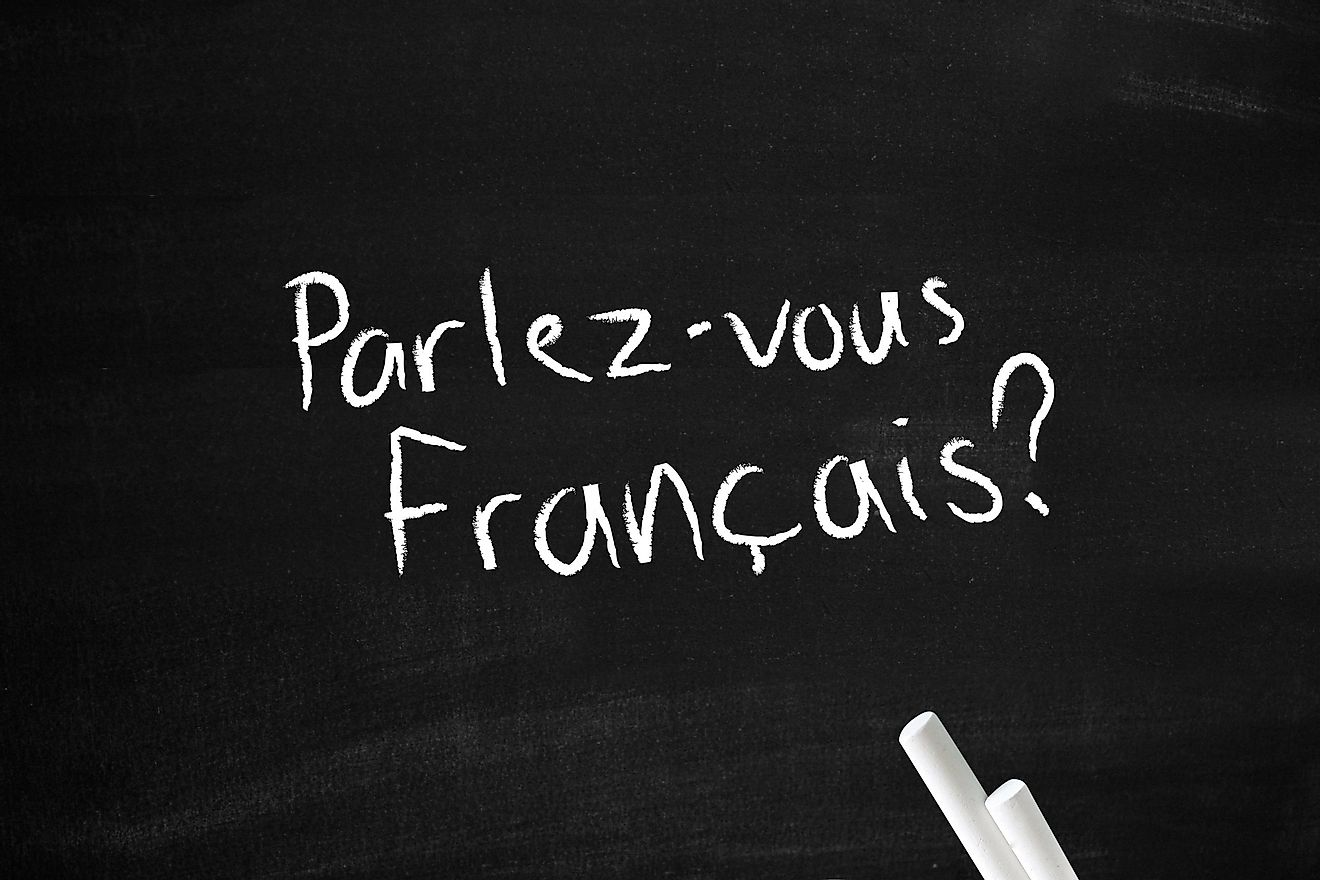 Africa makes up more than 70% of the world's total French speaking population.