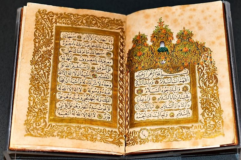 The Quran is the guiding text of Islamic Economics, notably condemning interest, greed, and gambling and praising charity.
