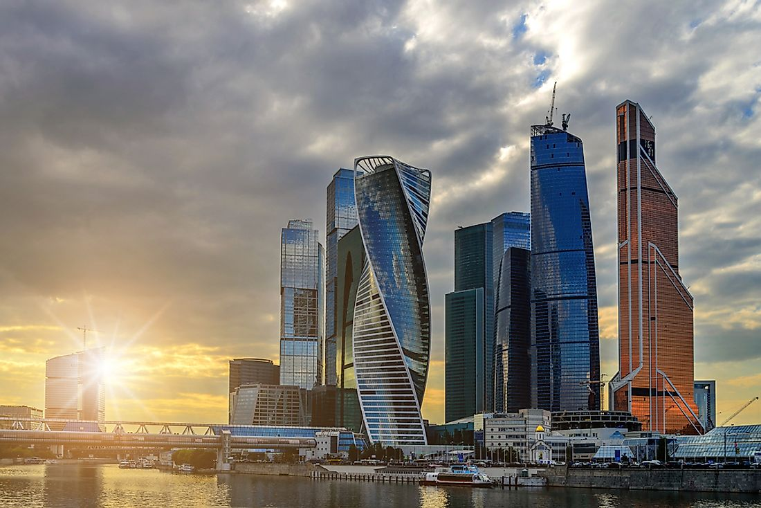 The stunning skyline of Moscow International Business Center.