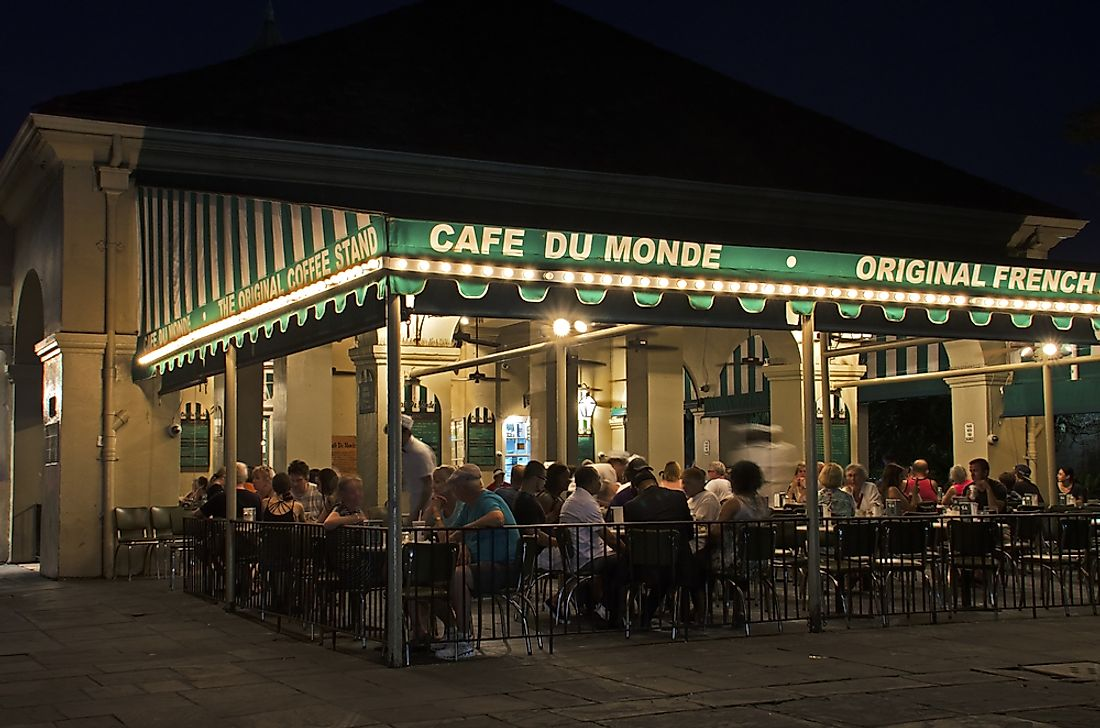 "The famous ""Cafe du Monde"" in New Orleans. Photo credit: Andriy Blokhin / Shutterstock.com."