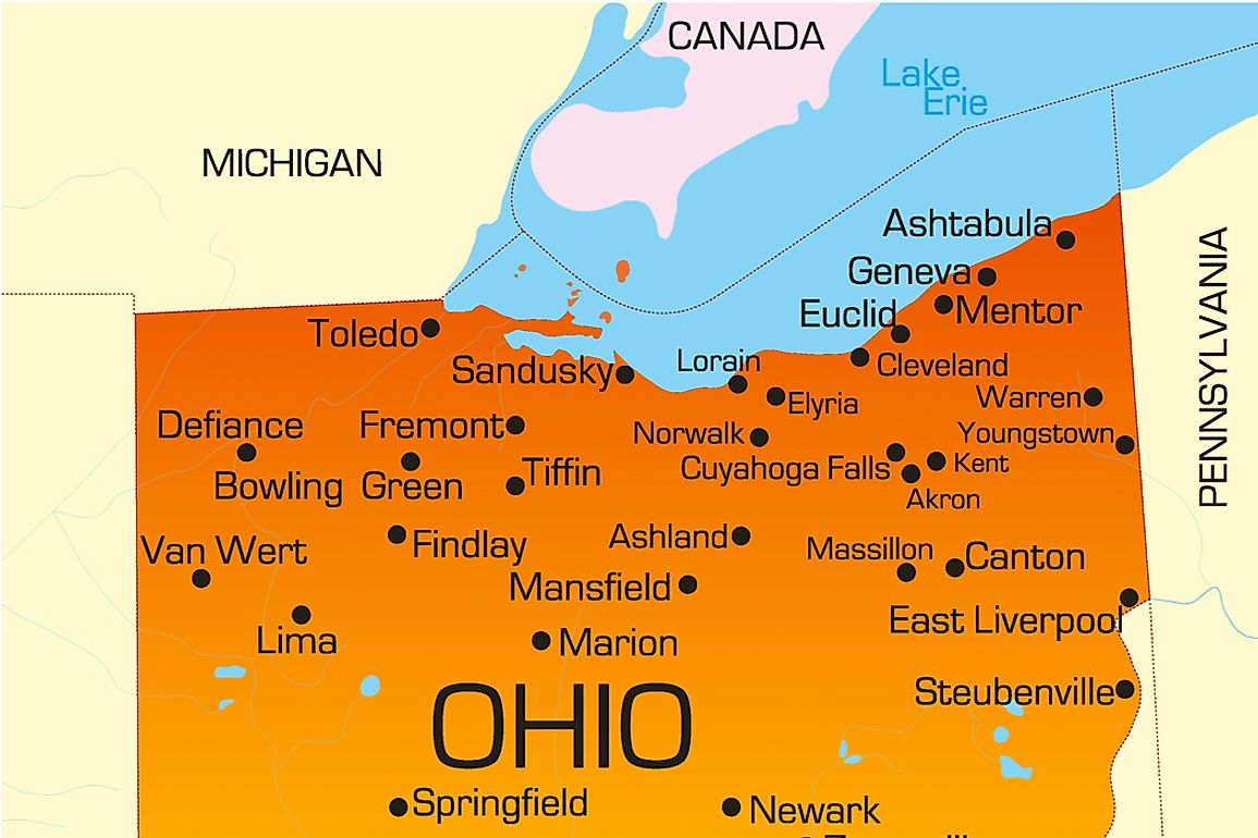 The Toledo Strip was a disputed area along the border of Michigan and Ohio.