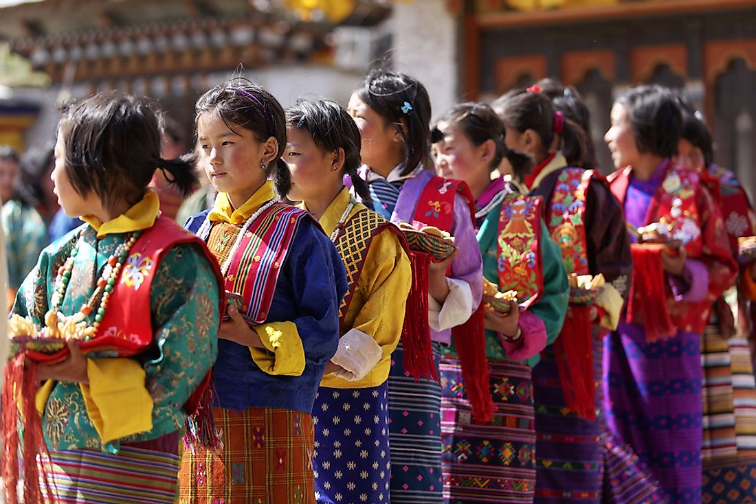 The festival of Ura Yakchoe in Bhutan. Editorial credit: Soumitra Pendse / Shutterstock.com.