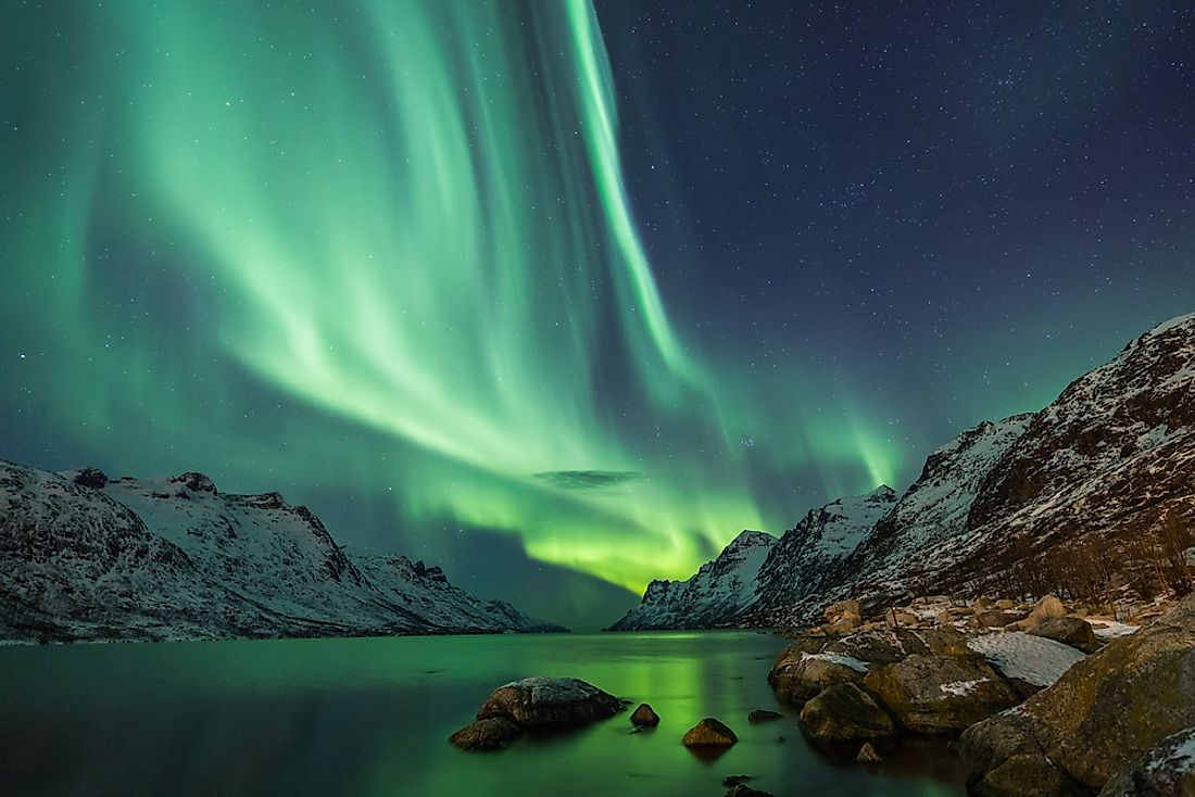 The Northern Lights seen in Northern Norway.
