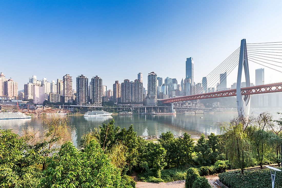 The skyline of Chongqing, China.