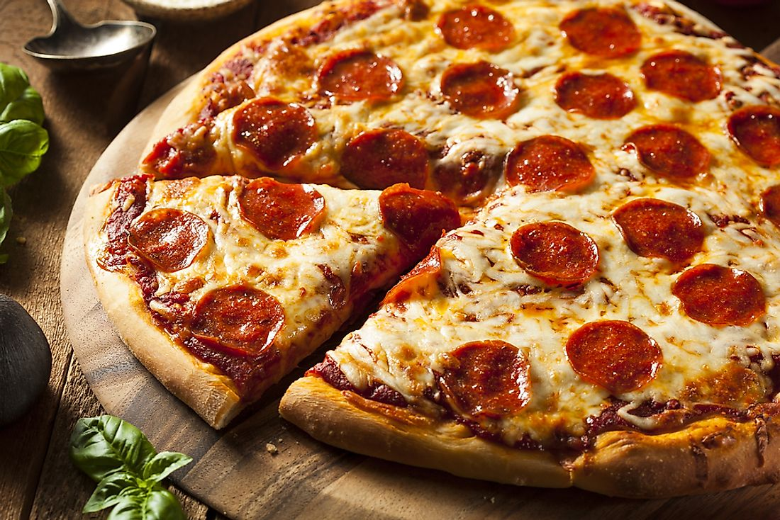Pizza is one of the world's favorite fast food choices. It originally came from Italy.