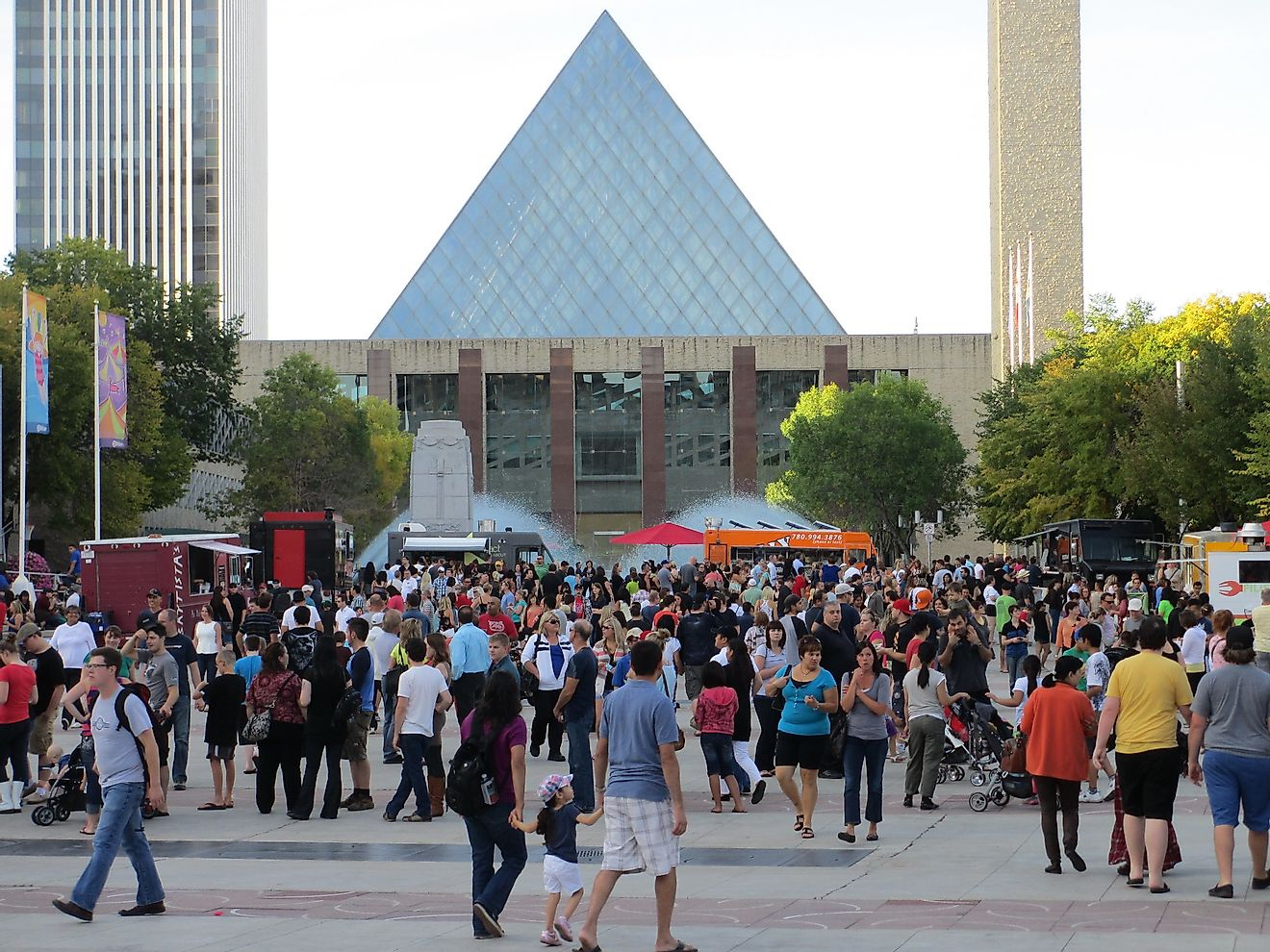 The bustling Churchill Square in Edmonton. Image credit: Mack Male/Flickr.com