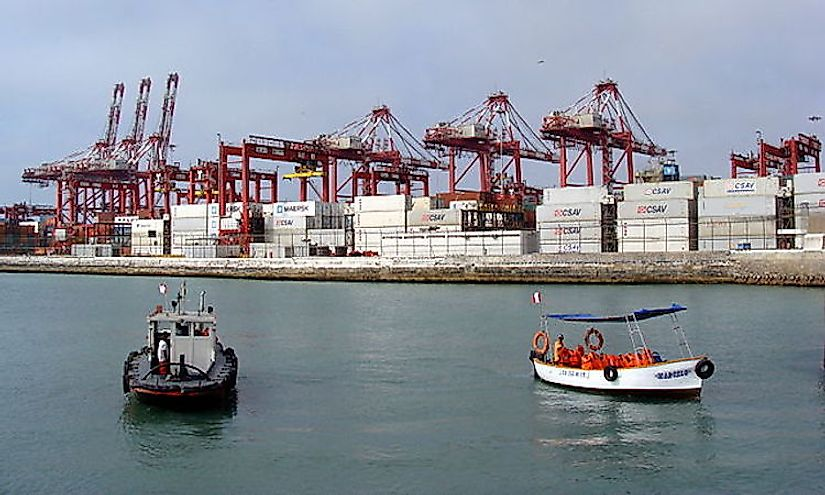 The Port of Callao is Peru's gateway for exports and imports.