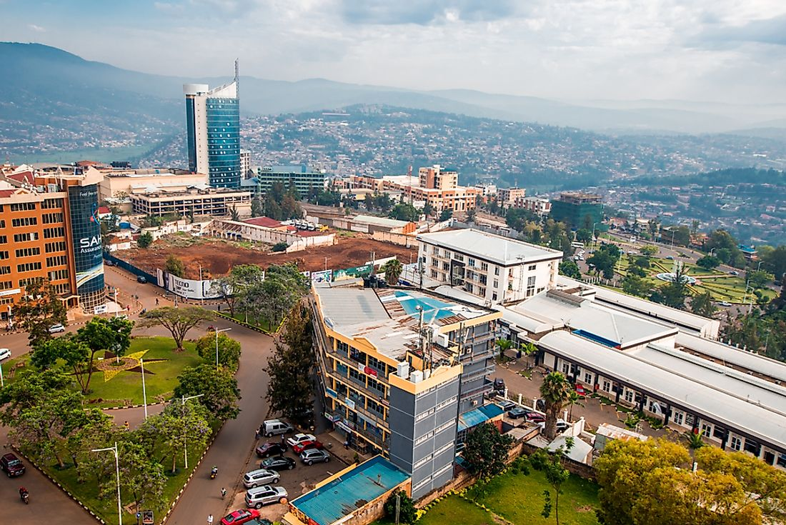 Kigali, Rwanda's capital and largest city. Editorial credit: Jennifer Sophie / Shutterstock.com.