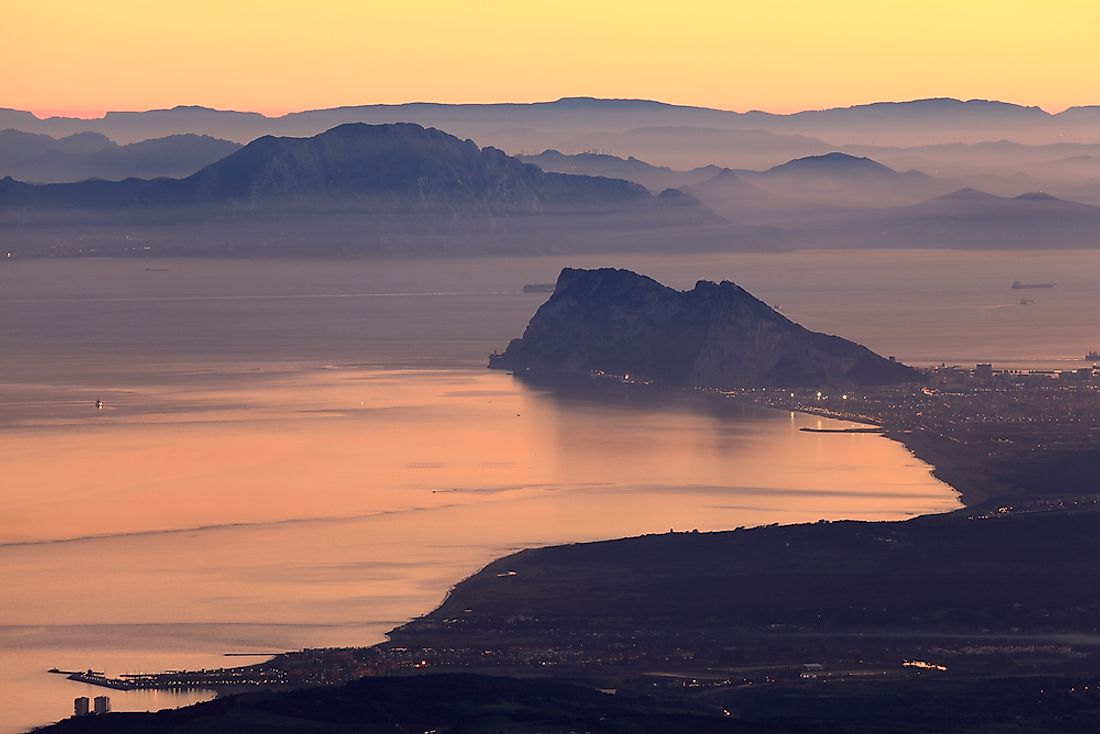 The Strait of Gibraltar is perhaps the most well-known strait in the world.