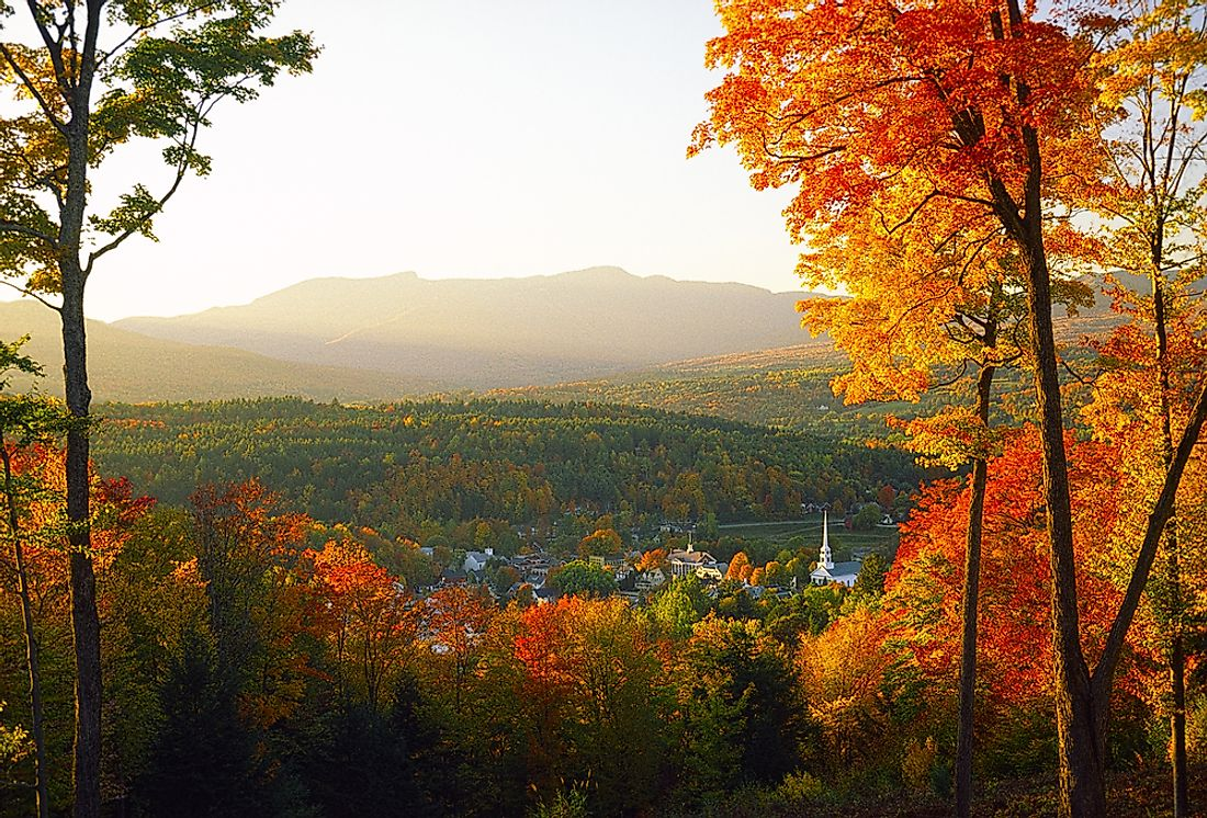 New England is well-known for its yearly fall foliage.