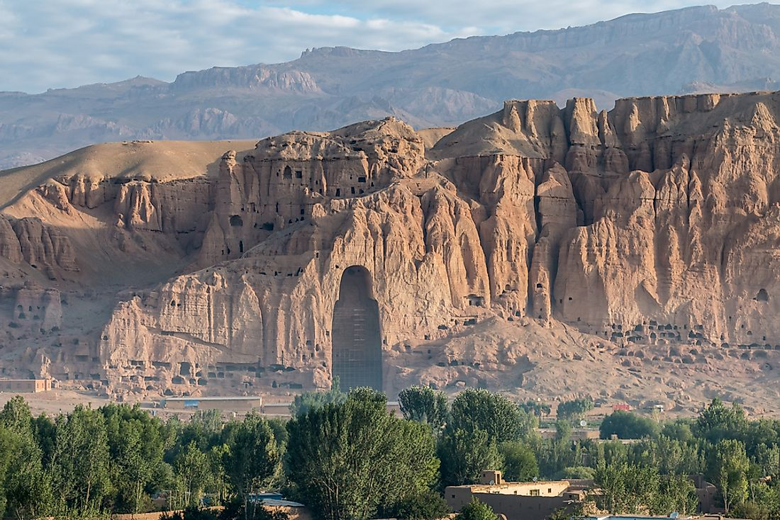 The Buddha is Bamiyan as it stands today.