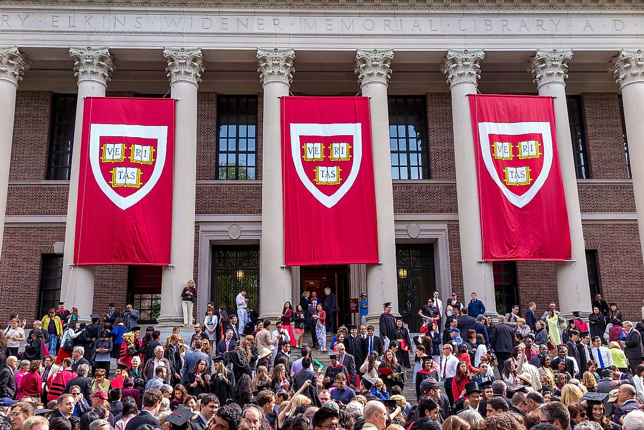 Students of Harvard University gather for their graduation ceremonies on Commencement Day on May 29, 2014 in Cambridge, MA. Image credit: f11photo/Shutterstock.com