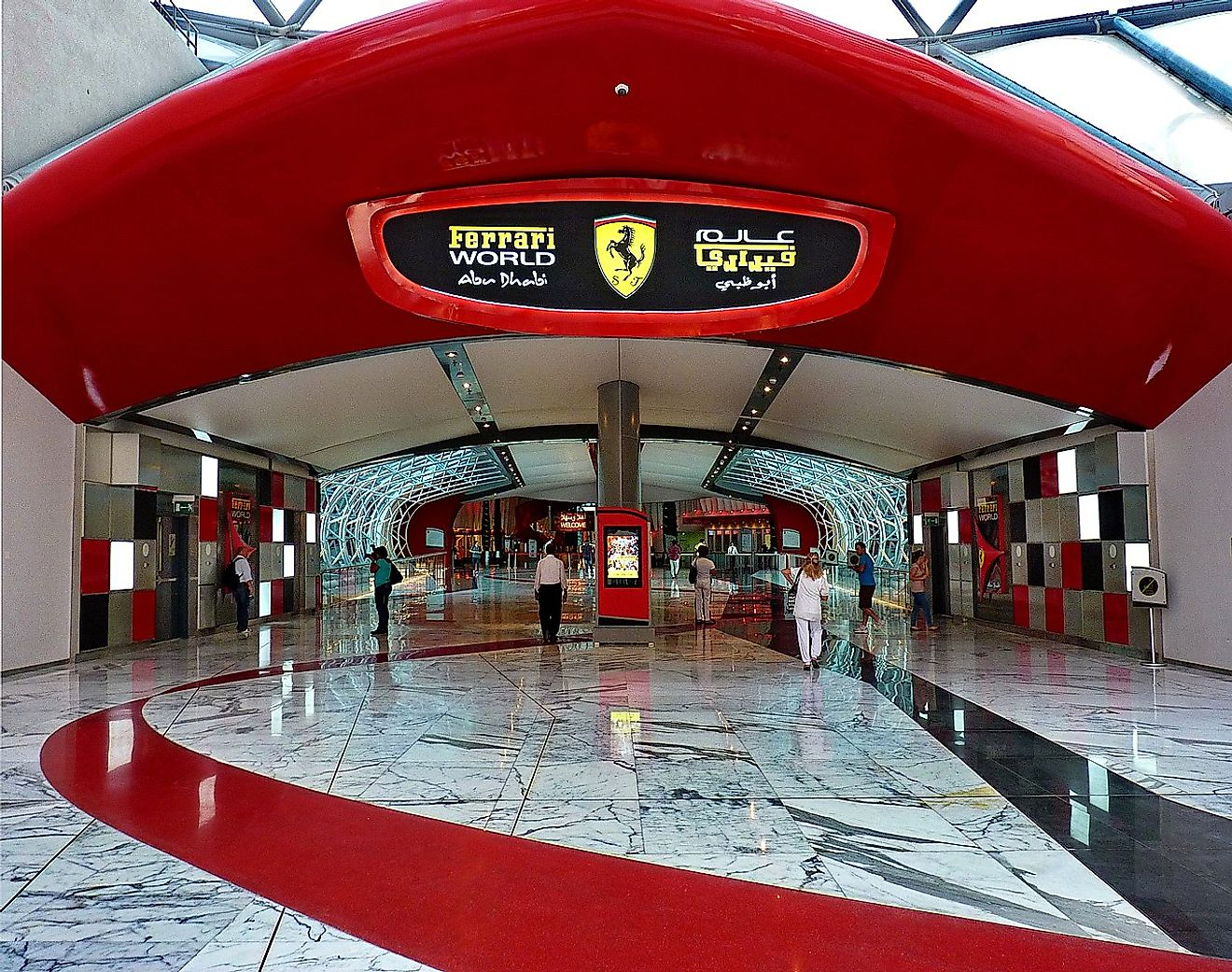 Entrance to Ferrari World, Abu Dhabi. Image credit: Patano/Wikimedia.org