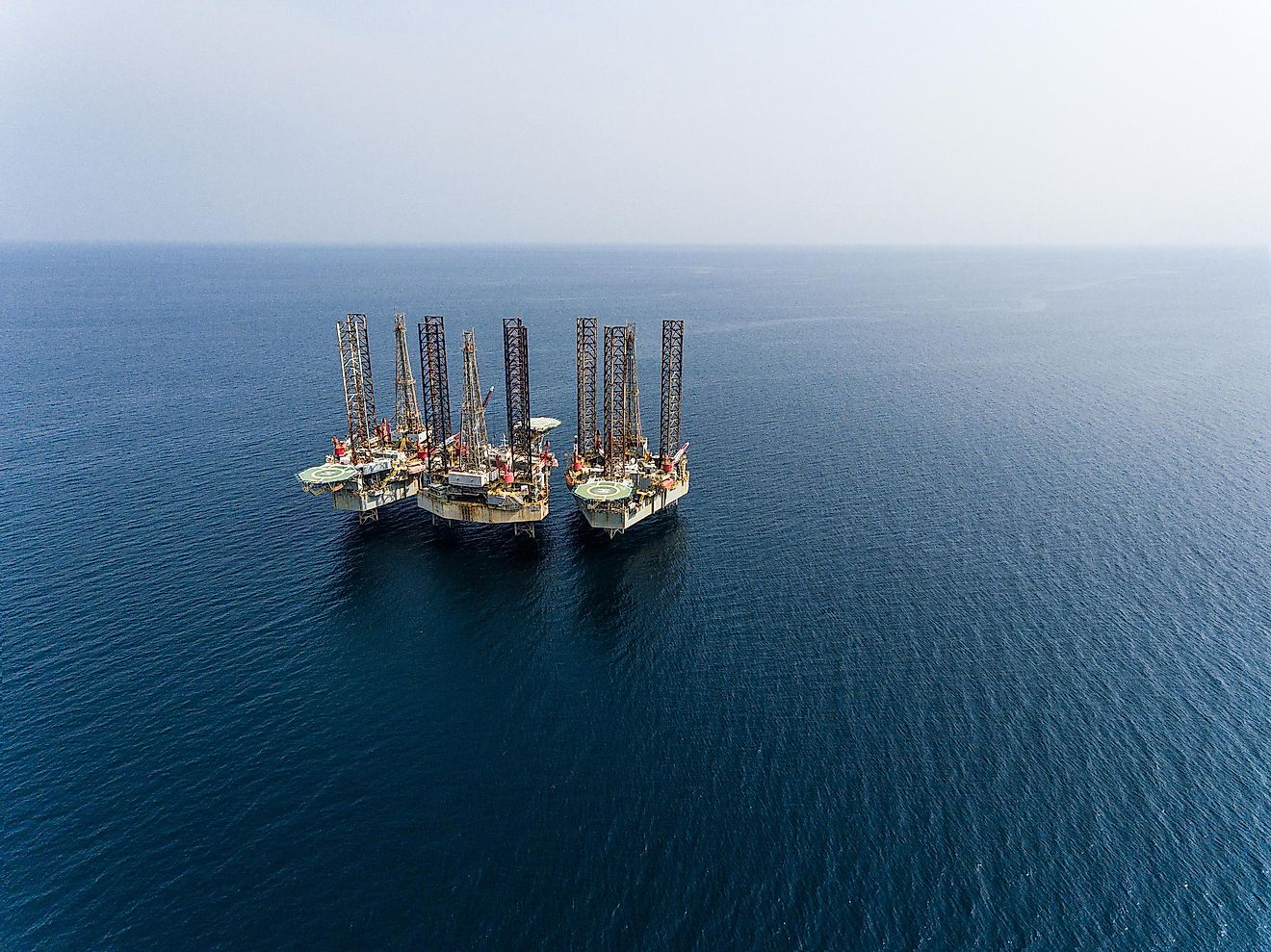 Oil drilling in the Gulf of Guinea.