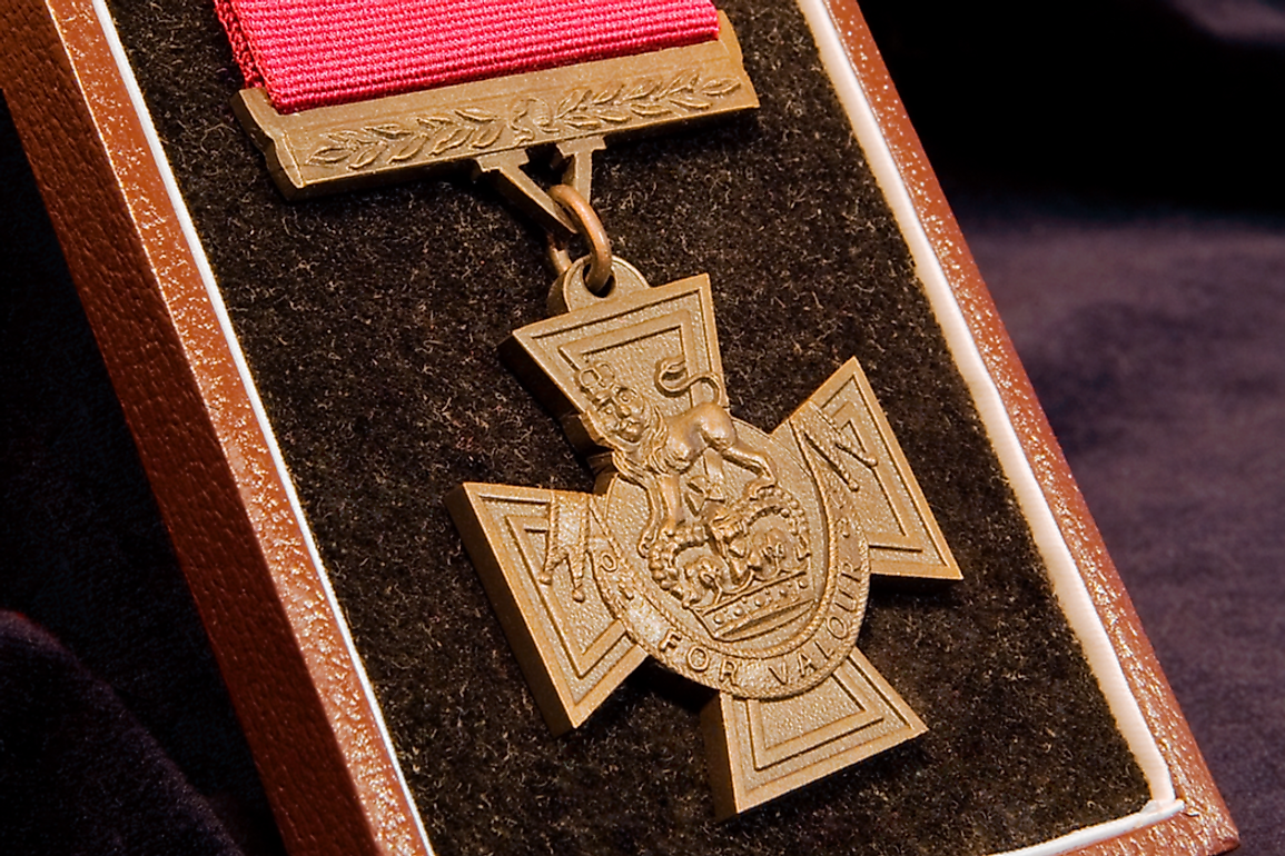 The Victoria Cross has been issued about 1,358 times to 1,355 individuals.