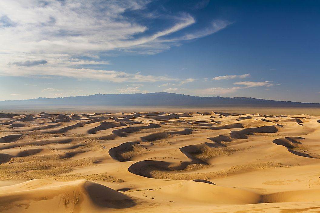 The Gobi Desert in Mongolia.