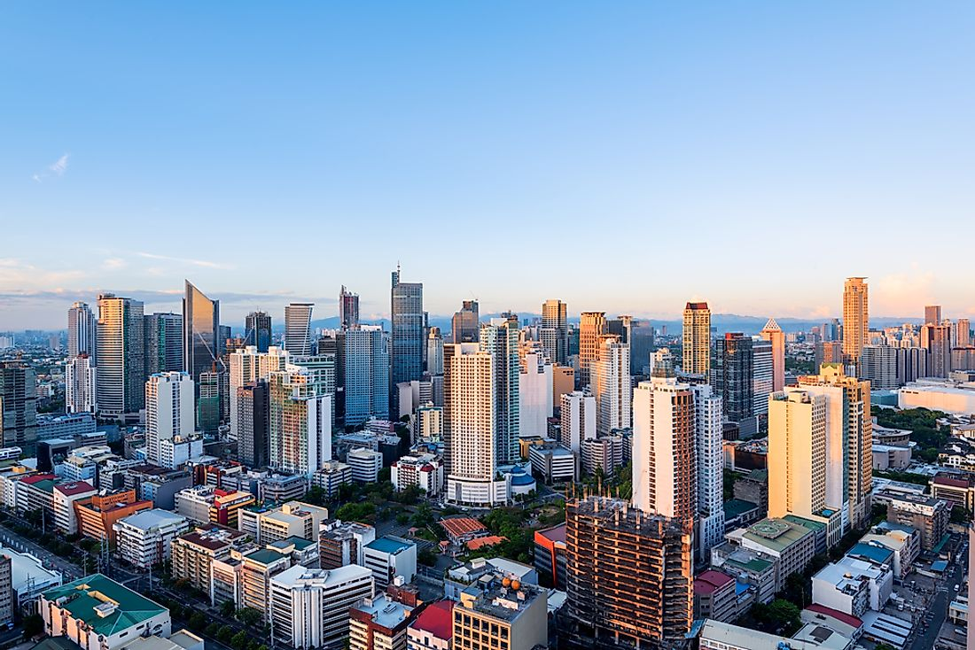 Metro Manila. Manila, in the Philippines, has grown into one of the world's largest cities.
