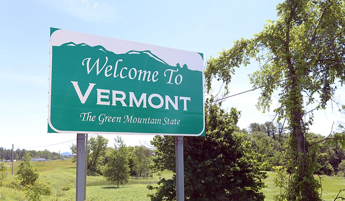 Vermont is known as the Green Mountain State.