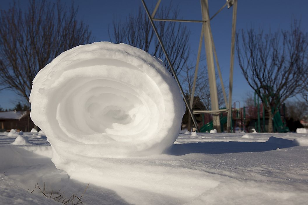 An example of a snow roller.