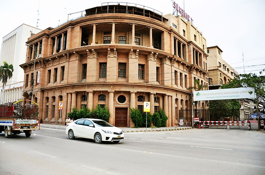 A street in Karachi, the financial capital of Pakistan. Editorial credit: APICE CREATIVE / Shutterstock.com.
