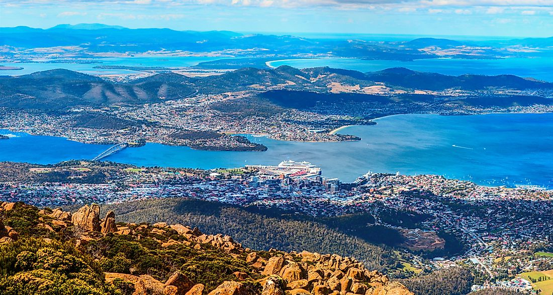 Hobart is the capital of Tasmania, one of the six states of Australia.