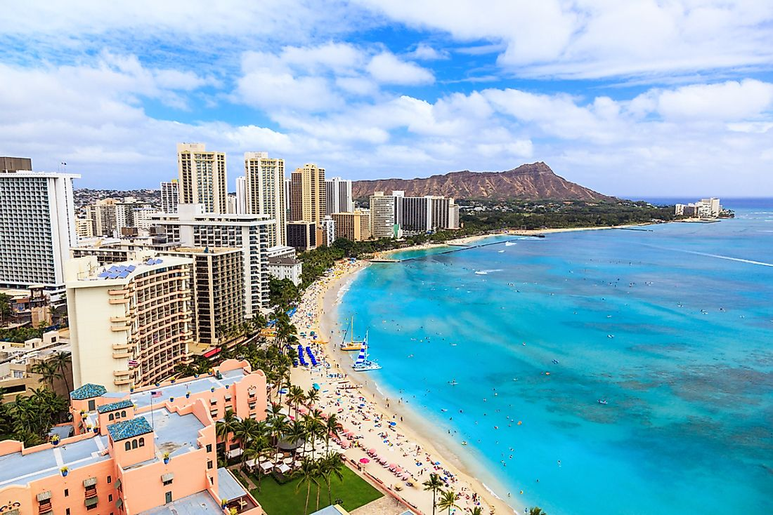 Honolulu, the largest city in Hawaii.
