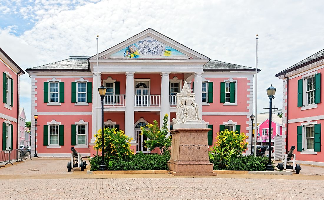 Parliament of the Bahamas, located in downtown Nassau.