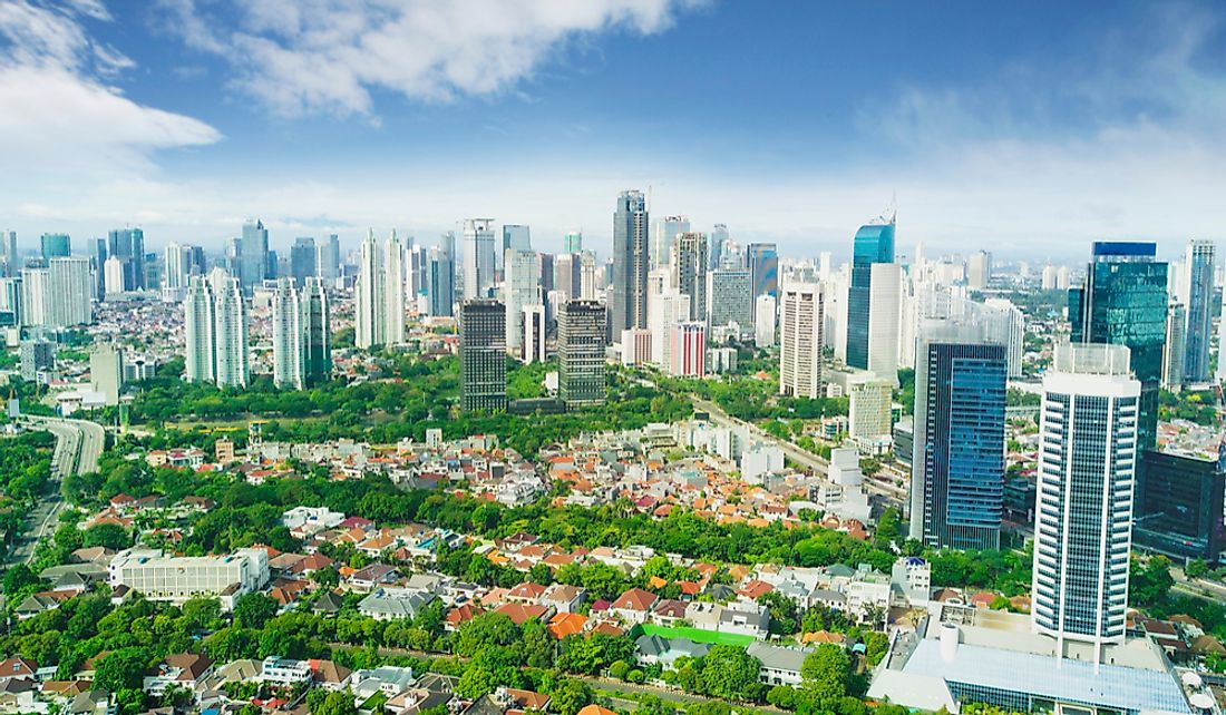 Jakarta, the Indonesian capital, is located on the northwestern coast of the island of Java.