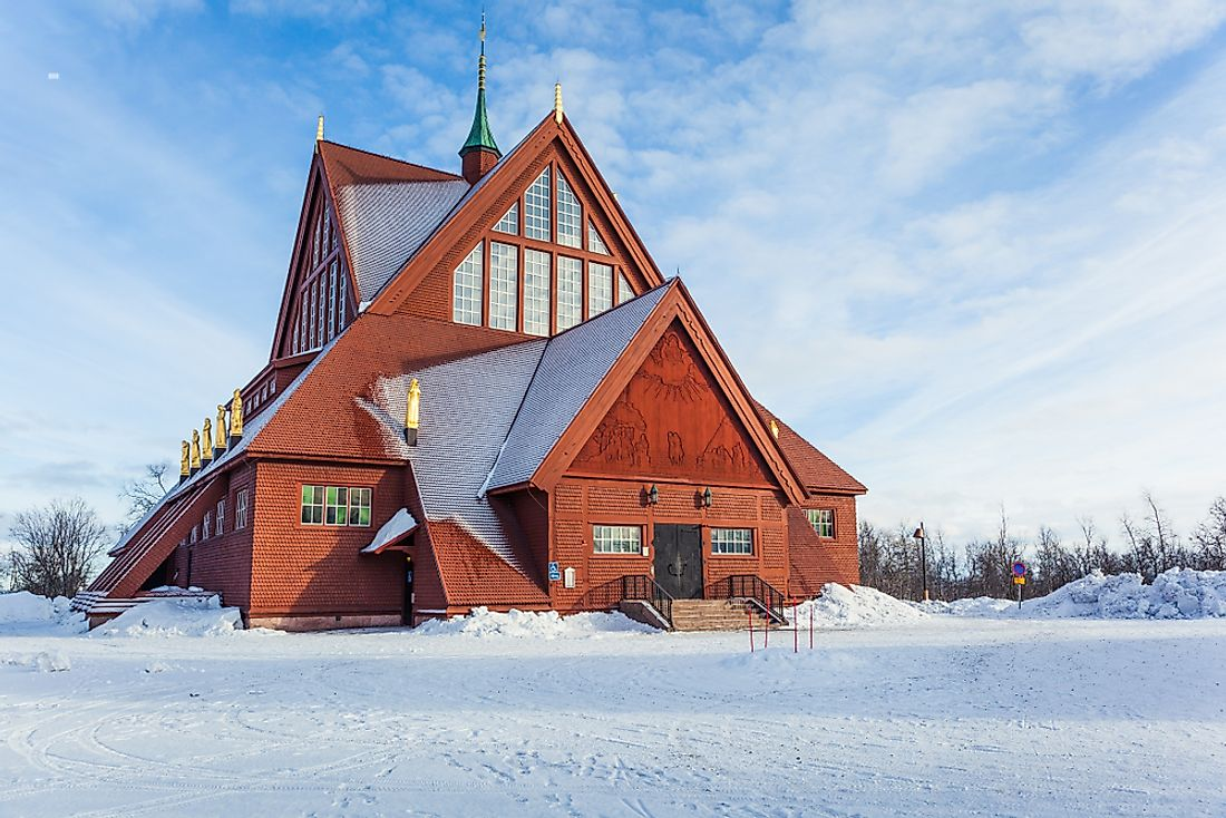 A church in Kiruna, Sweden.
