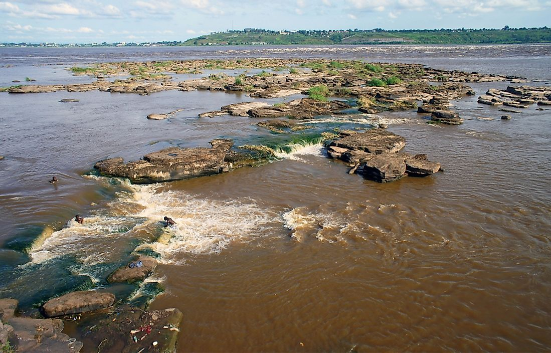 Rapids along the Congo River near Brazzaville, Republic of the Congo.