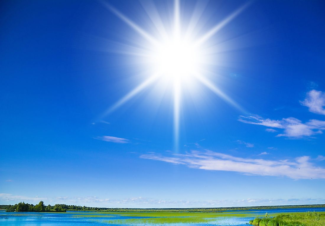 The sun is the source of all life on Earth.