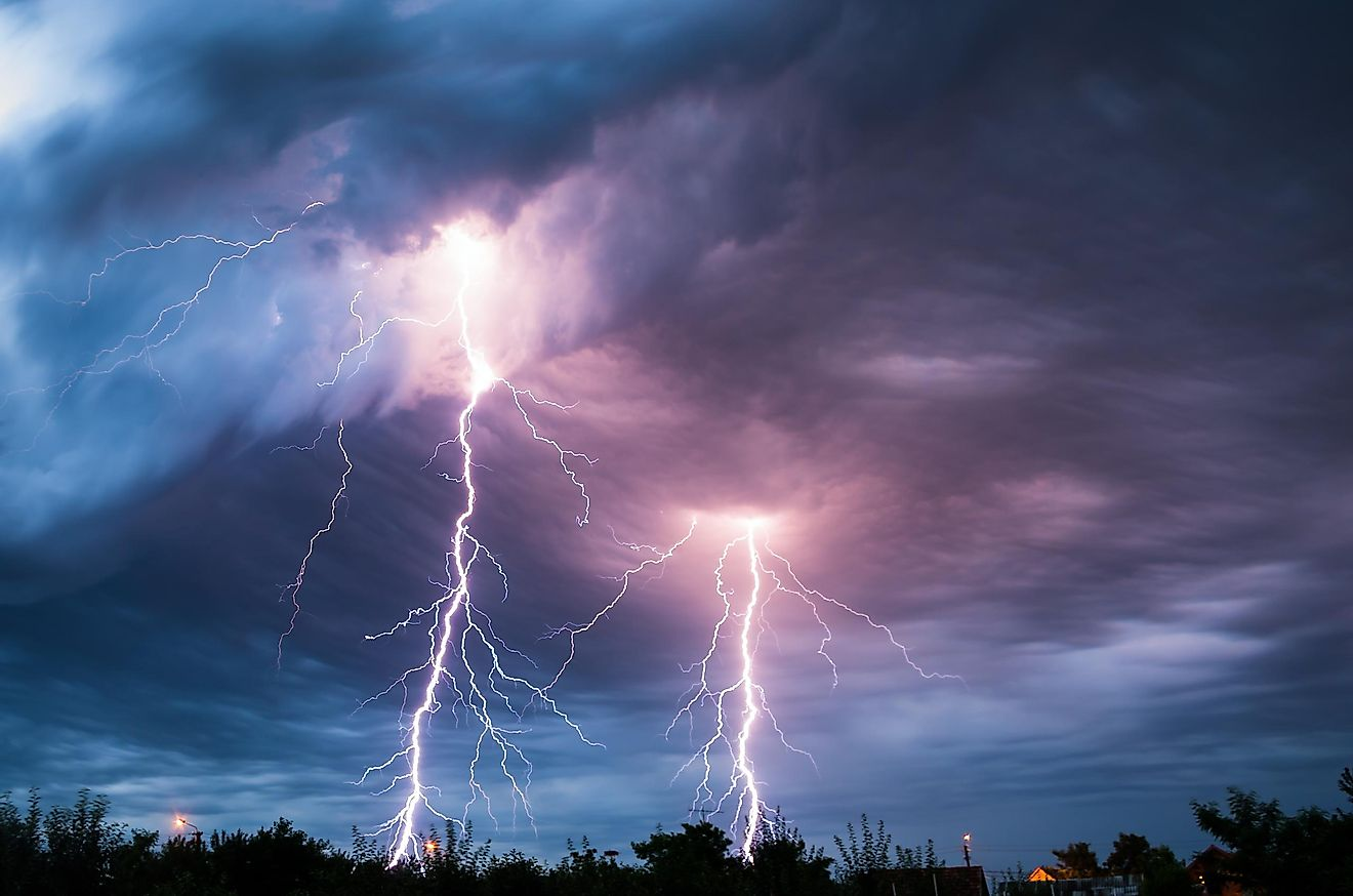 Contrary to popular belief, lightning does hit the same spot twice, and it also comes in a variety of colors.