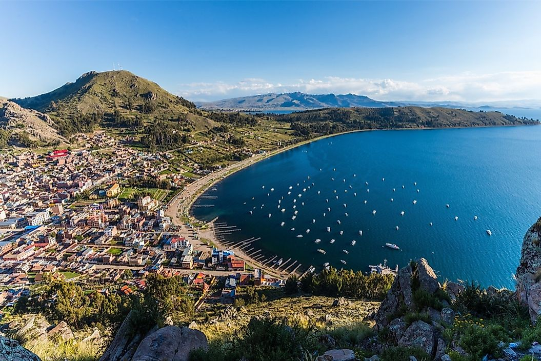 Lake Titicaca, located on the border of Peru and Bolivia, is the world's highest navigable lake.