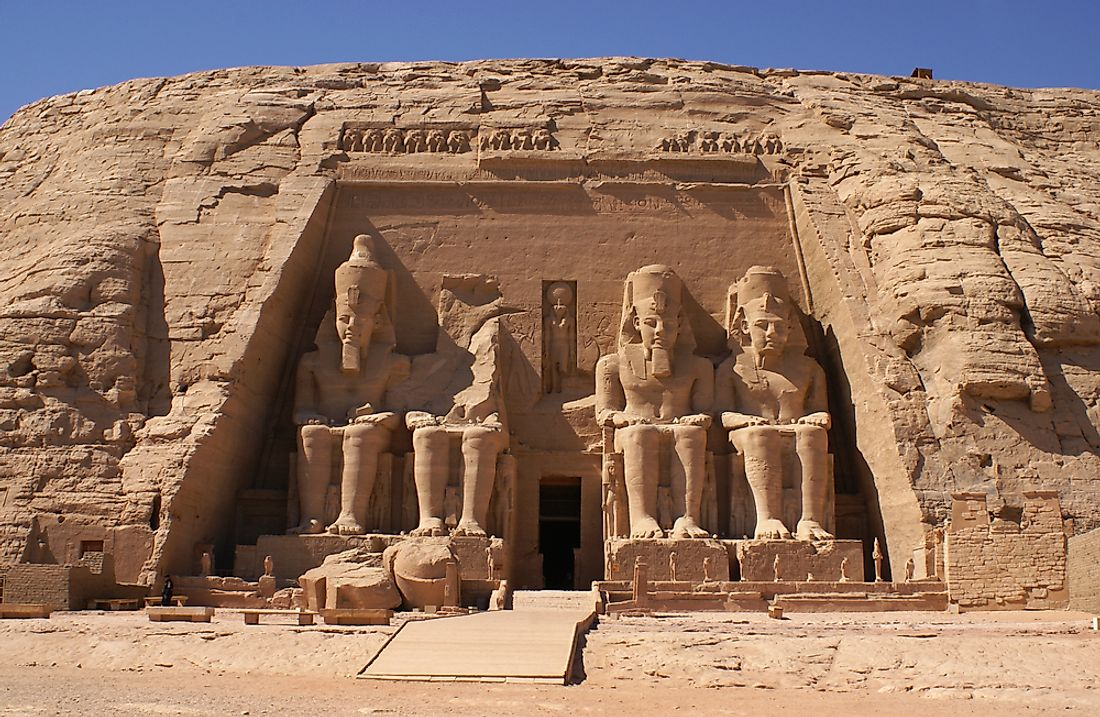 The Abu Simbel Temple of Ramesses II in Egypt.