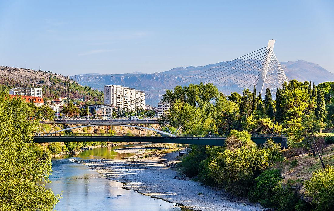 Podgorica, the capital of Montenegro.