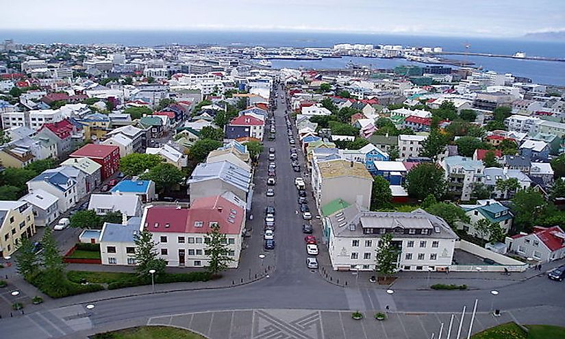 Reykjavík, the capital and the largest city in Iceland.