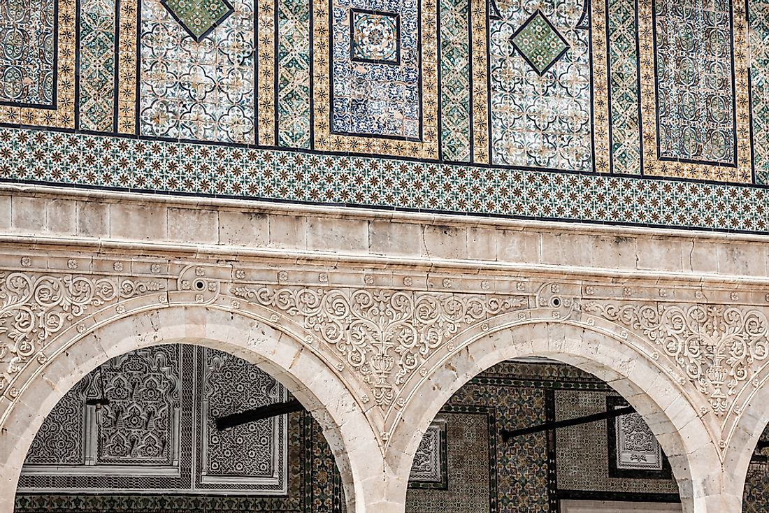 The Zaouia of Sidi Saheb is a classic example of Tunisian Arabic architecture.