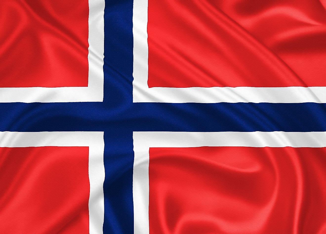 The official flag of the Kingdom of Norway.
