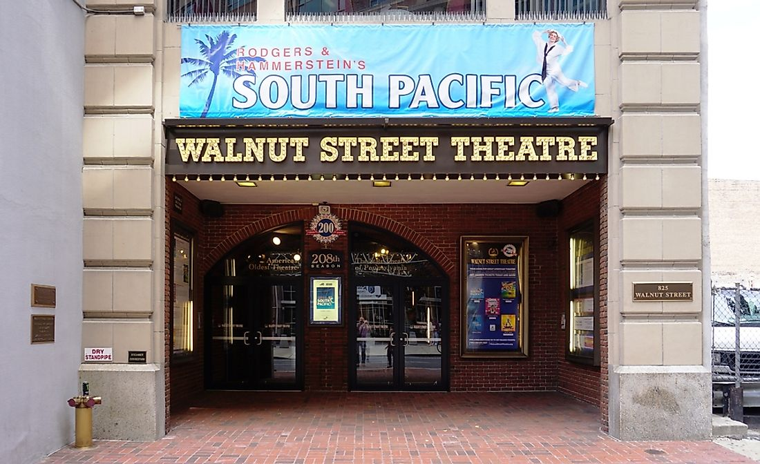 Open since 1809, the Walnut Street Theatre has held various events over the years. Editorial credit: EQRoy / Shutterstock.com