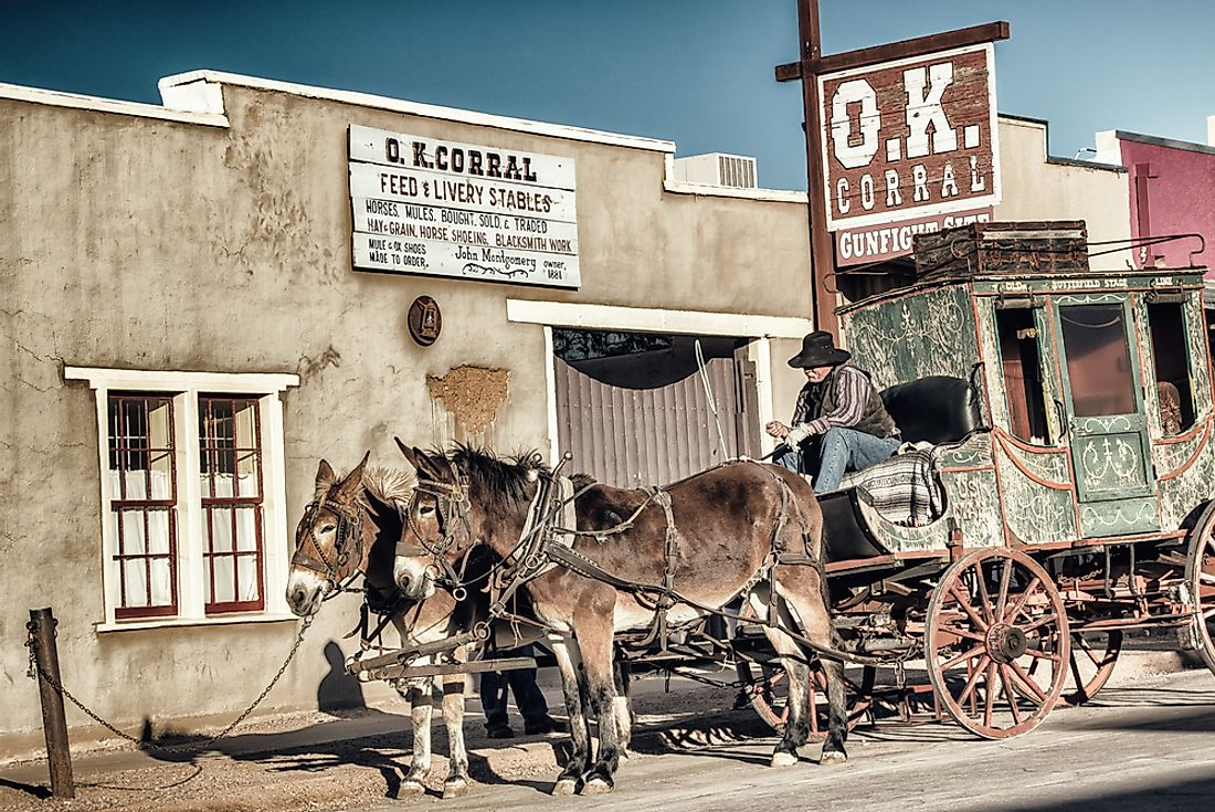 The O.K. Corral in Tombstone, Arizona. Editorial credit: Atomazul / Shutterstock.com