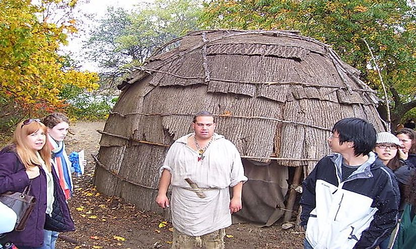 Wampanoag educator at Plimoth Plantation