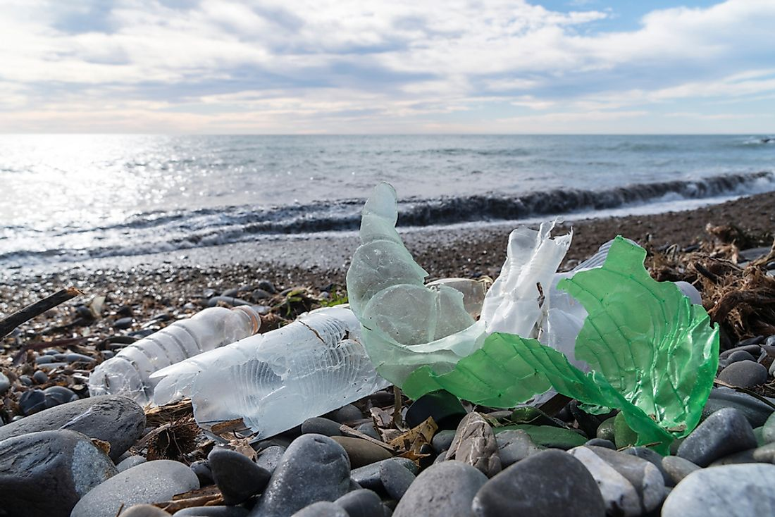 Plastic is one of the most common types of litter found on beaches.